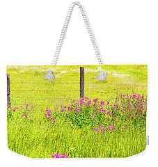 Wild Flowers  By The  Fence Weekender Tote Bag