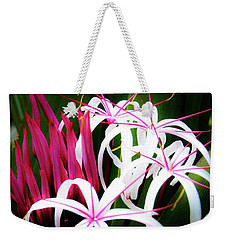 Weekender Tote Bag featuring the photograph Wild Flowers In Hawaii by D Davila
