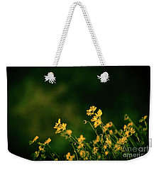Weekender Tote Bag featuring the photograph Evening Wild Flowers by Kelly Wade