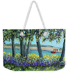 Wild Flowers Of Falmouth Ma Weekender Tote Bag by Rita Brown