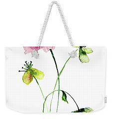 Wild Flowers Watercolor Illustration Weekender Tote Bag