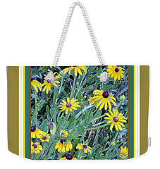 Weekender Tote Bag featuring the photograph Wild Flowers With Brown Eyes by Shirley Moravec