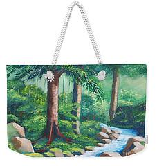 Wild Forest River Weekender Tote Bag