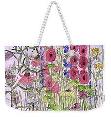 Wild Garden Flowers Weekender Tote Bag by Laurie Rohner
