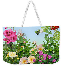 Weekender Tote Bag featuring the painting Wild Garden by Ivana Westin