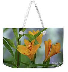 Wild Garden Lilies Weekender Tote Bag