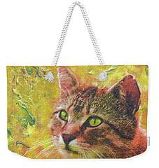 Wild Garden Tabby Weekender Tote Bag