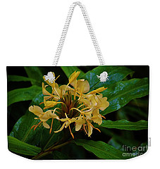 Wild Ginger In The Rain Weekender Tote Bag by Craig Wood