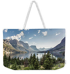 Wild Goose Island In St. Mary Lake - Glacier National Park Weekender Tote Bag