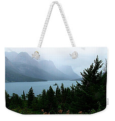 Wild Goose Island In The Rain Weekender Tote Bag
