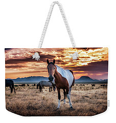 Wild Horses At Sunset Weekender Tote Bag