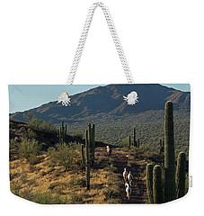 Wild Horses Of The Sonoran Desert Weekender Tote Bag by Sue Cullumber