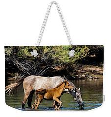Wild Horses On The Salt River Weekender Tote Bag