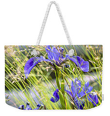 Wild Irises Weekender Tote Bag by Marty Saccone