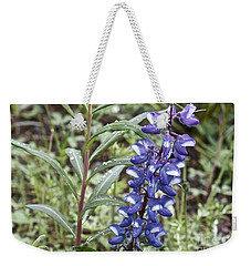 Weekender Tote Bag featuring the photograph Wild Lupine by Linda Bianic
