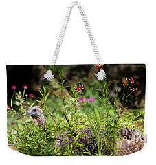 Wild Mama Turkey In The Garden Weekender Tote Bag