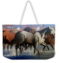 Wild Mustangs Of The Verder River Weekender Tote Bag
