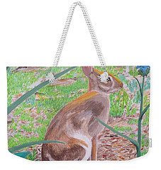 Wild Rabbit Weekender Tote Bag by Hilda and Jose Garrancho