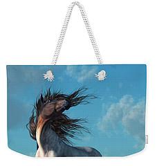 Weekender Tote Bag featuring the digital art Wild Roan by Daniel Eskridge
