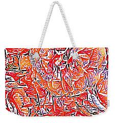 Wild Roses Abstract  Weekender Tote Bag