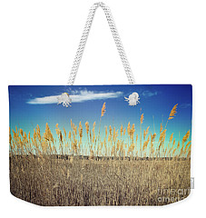 Weekender Tote Bag featuring the photograph Wild Sea Oats by Colleen Kammerer