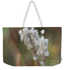 Weekender Tote Bag featuring the photograph Wild Seed by Ann E Robson