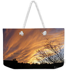 Wild Sky Of Autumn Weekender Tote Bag by Barbara Griffin