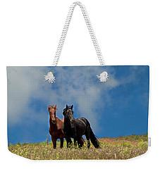 Wild Stallions Together Weekender Tote Bag