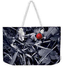 Weekender Tote Bag featuring the photograph Wild Strawberry by Iowan Stone-Flowers