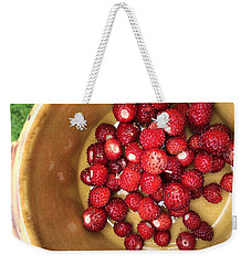 Wild Strawberry Weekender Tote Bag