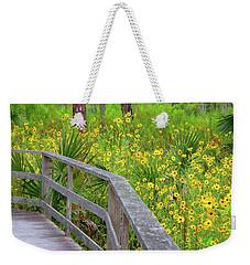Wild Sunflower Walk Weekender Tote Bag