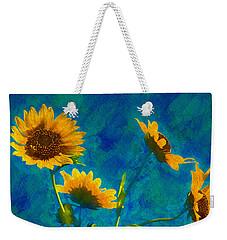 Wild Sunflowers Singing Weekender Tote Bag