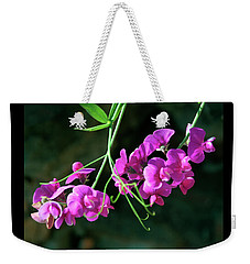 Wild Sweet Peas Weekender Tote Bag by Greg Sigrist