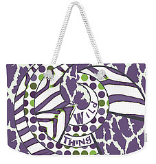 Weekender Tote Bag featuring the digital art Wild Thing by Methune Hively