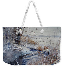 Wild Turkey In The Storm Weekender Tote Bag by Sandra Strohschein