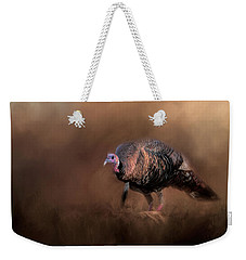 Wild Turkey In The Woods Weekender Tote Bag by Jai Johnson