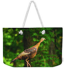 Wild Turkey Profile On Rooftop Weekender Tote Bag