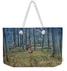 Wild Turkeys In Forest Version Two Weekender Tote Bag