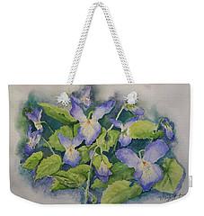 Wild Violets Weekender Tote Bag by Marilyn Zalatan