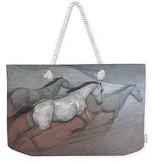 Wild White Horses Weekender Tote Bag