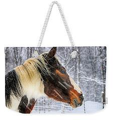Wild Winter Storm Weekender Tote Bag