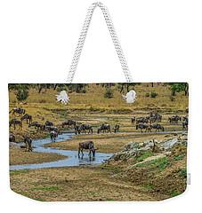 Wildebeest In The Tarangire Weekender Tote Bag
