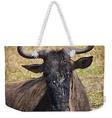 Wildebeest Taking A Break Weekender Tote Bag by Darcy Michaelchuk