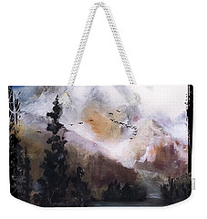 Wilderness Mountain Landscape Weekender Tote Bag