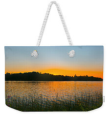 Wilderness Point Sunset Panorama Weekender Tote Bag by Gary Eason