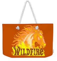 Weekender Tote Bag featuring the mixed media Wildfire by J L Meadows