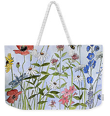 Wildflower And Blue Sky Weekender Tote Bag