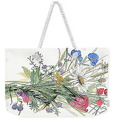 Wildflower Bouquet Weekender Tote Bag