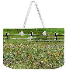 Wildflower Fence Weekender Tote Bag