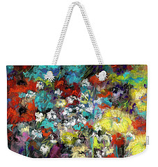 Weekender Tote Bag featuring the painting Wildflower Field by Frances Marino